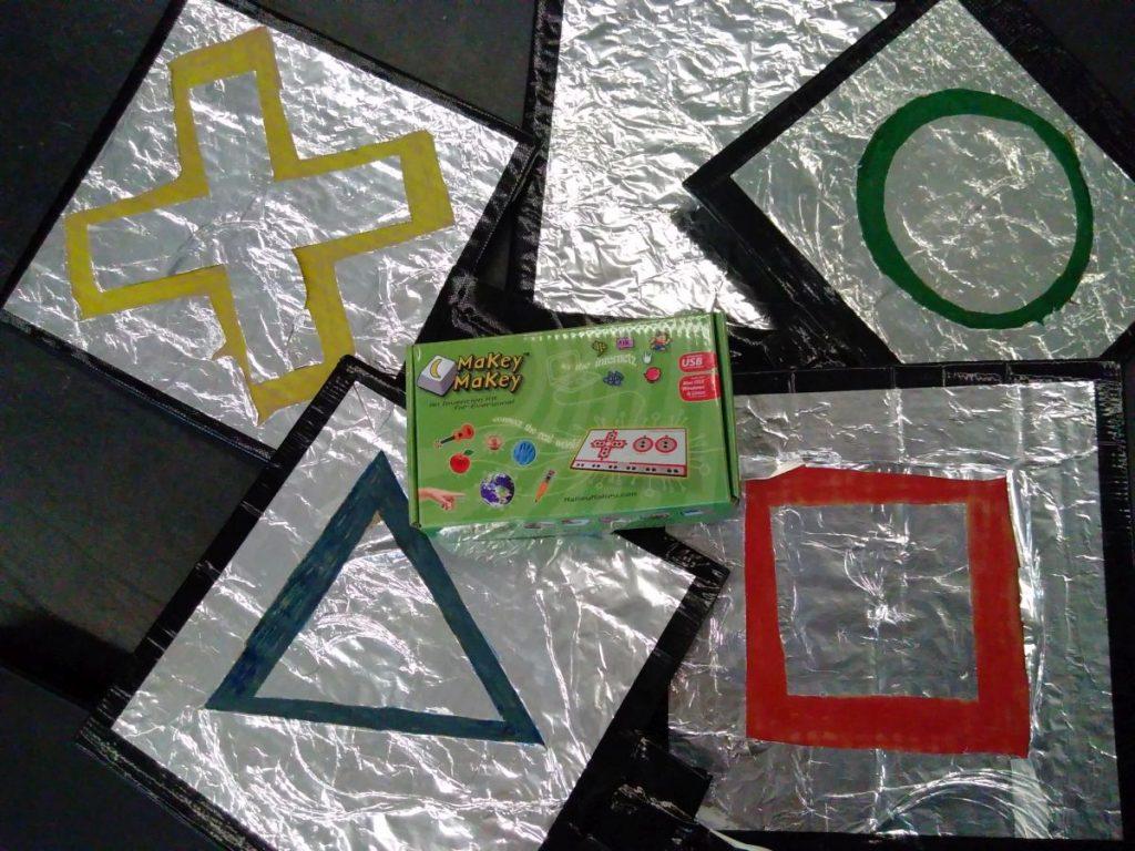 makeymakey mit selbstgebauten Schaltern
