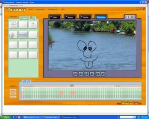 Screenshot von der trixomat oberfläche