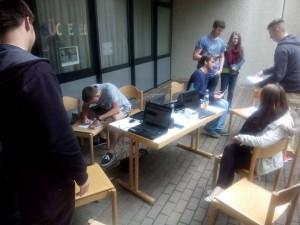 mobilegaming Seminar draußen